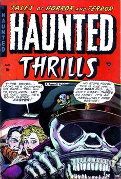 Comic Book Cover For Haunted Thrills #13