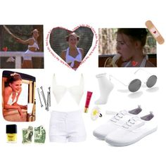 Lolita's tennis outfit by lolitadelrey on Polyvore featuring 2b bebe, Topshop, Charlotte Russe, Urban Decay, Butter London, Dominique, BOBBY and vintage