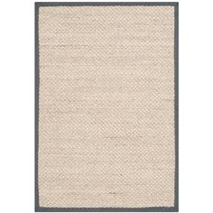 Natural Fiber Marble/Dark Grey 3 ft. x 5 ft. Area Rug