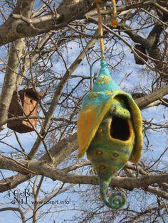 Felted Nest | loved felting this bird nest.