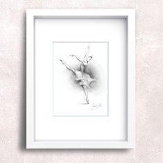 BALLERINA. Art Print of original graphite by DanceArtGallery