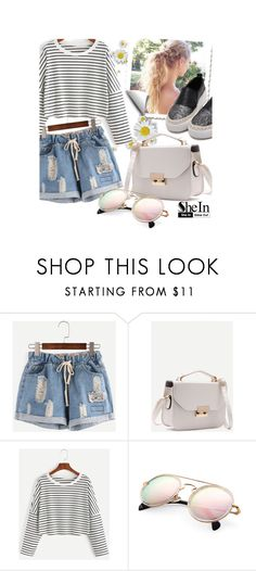 """ripped denim shorts"" by whyfashionblog ❤ liked on Polyvore"