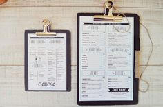 cartas restaurante originales pizarra