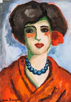 Buy online, view images and see past prices for Kees van Dongen French Fauvist Gouache on Paper. Invaluable is the world's largest marketplace for art, antiques, and collectibles. Abstract Portrait Painting, Figure Painting, Portrait Art, Portrait Paintings, Acrylic Paintings, Art Paintings, Gouache, Expressionist Portraits, Renaissance Paintings