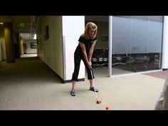 Callaway Office Tips - Controlling Iron Shot Trajectory What a great idea to hit golf balls at work!!