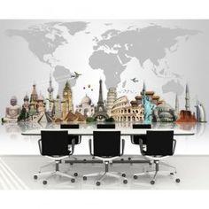 Ofis için 3 boyutlu duvar kağıdı modelleri