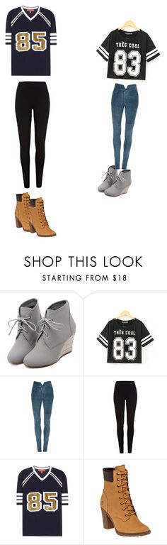 """Untitled #46"" by queenbre101y on Polyvore featuring WithChic, Isabel Marant, River Island, Tommy Hilfiger and Timberland"