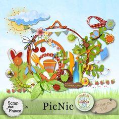 PicNic - Kit par Scrap de Yas et 100drine [Scrap de Yas et 100drine] - €3.50 : Boutique ScrapFromFrance