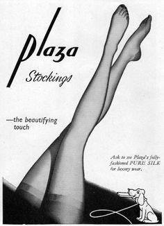 Stockings advertisement, 1950's