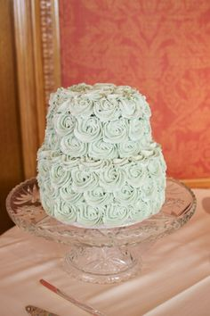 Mint Green Rose Cake - The Mighty Baker - Provo Utah County Wedding Cakes & Dessert Catering