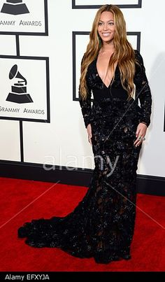 Beyonce arrives for the 57th annual Grammy Awards held at the Staples Center in Los Angeles, California, USA, 08 February 2015.  © epa european pressphoto agency b.v. / Alamy
