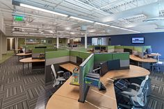 Check out this #modern open office environment designed by our wm | phoenix team! #interiors