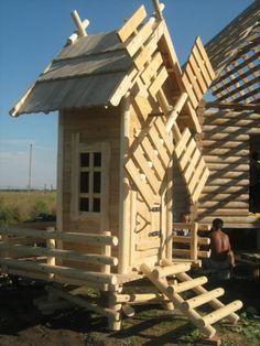 Наши деревянные мельницы