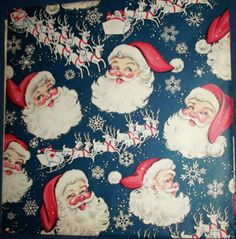 VINTAGE CHRISTMAS GIFT WRAP / WRAPPING PAPER