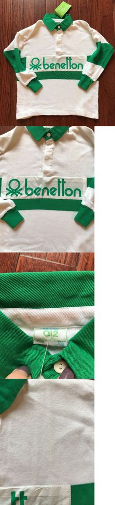 45046531c18 Tops and T-Shirts 155199: Nwt Vintage 80S 90S Benetton Rugby Jersey Green  White Youth Juniors Size Xs -> BUY IT NOW ONLY: $42.49 on eBay!