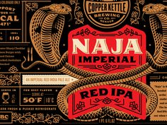 Dribbble - Copper Kettle Naja Imperial Red IPA by Emrich Co.