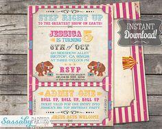 Personalizados de encargo del circo carnaval Big por theprintfairy