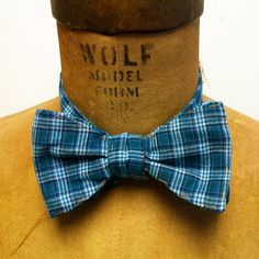 Men's Bow Tie  Geek Chic Number 55  Blue on Blue by theHouseofLux, $37.00