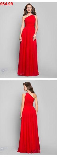 Etui-Linie U-Ausschnitt Short Sleeve Chiffon lange rote Abendkleider ...