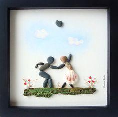 Galets Art mariage cadeau cadeau de fiançailles par MedhaRode