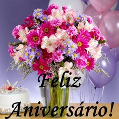 - Mensagem de aniversário Love Phrases, Happy Birthday Images, Happy B Day, Strong Quotes, Happy Anniversary, Congratulations, Poster, Table Decorations, Flowers