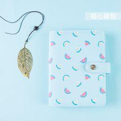 Nova série de verão melancia cadernos espirais, bonito da escola do escritório fichário diário pessoal pessoal/semana planejador/agenda organizador A6