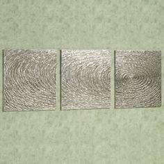 "Endless Wall Art Set Aged Silver Set of Three 69"" x 21"" $240"