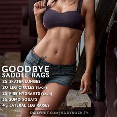 Goodbye, Saddlebags! Workout