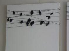 wrap string around white canvas & add fabric or felt!