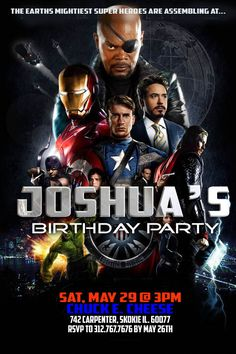 Avengers Birthday Party. Fun! Lucky Joshua.