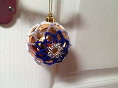 Gold and blue bauble