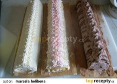 Roláda( motá se za studena) recept - TopRecepty.cz Krispie Treats, Rice Krispies, Cake, Sweet, Food, Candy, Pie, Kuchen, Cakes