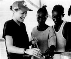 Angelina Jolie-noted for her work with refugees as a Special Envoy and former Goodwill Ambassador for the United Nations High Commissioner for Refugees (UNHCR)