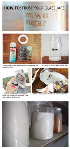 frost your own glass jars DIY