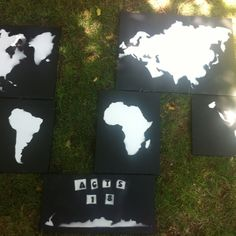 Map art with a Mission! My brother wanted something for his wall that represenst the mission trips he's been on and how God calls us all into the world. I think he came up with something awesome!