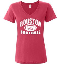 Houston Football Ladies V-Neck
