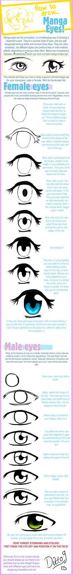 How to draw Manga Eyes by ^ditto9 on deviantART