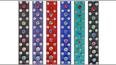 Large Dog Collar ~ Swarovski Crystals with Stainless Steel on Beta Biothane ~ Crafted with Love at CollarsbyKitt.com