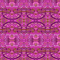 Egyptian Revival Romance in Raspberry by edsel2084 on Spoonflower