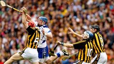 Tommy Walsh plucking a ball from the air against Waterford Sports Stars, Ash, Career, Gallery, Celebrities, Gray, Carrera, Celebs, Roof Rack