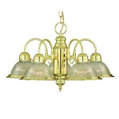 Savoy House 17022-PB Polished Brass Traditional / Classic 5 Light Down Lighting Chandelier