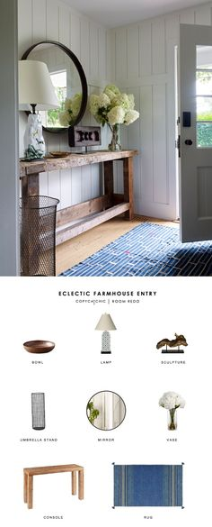 This modern farmhouse entryway by Robert Stilin gets recreated for less by copycatchic luxe living for less budget home decor and design looks for less