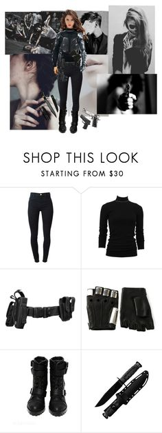 """""""She's beauty, she's grace, she'll punch you in the face"""" by nopalindromes-please ❤ liked on Polyvore featuring J Brand, Brunello Cucinelli, Holster, Majesty Black, fembuckybarnes, genderbentbuckybarnes, femalebuckybarnes and genderbentwintersoldier"""