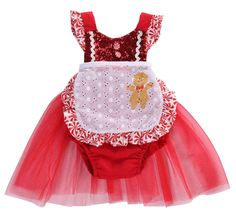 af76cd3a2f0e Infant Baby Girls Sequin Christmas Apron Tulle Dress Jumpsuit Romper Tutu  Outfits 1218 Months Red     You can get additional details at the image  link.