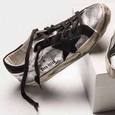 Golden Goose Superstar sneaker in silver stockist Camargue Brisbane Australia Pinned by #rollerpop