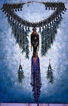African Queen Necklace & Earrings