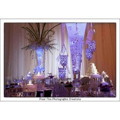 That orchid arrangement plus this purple stuff with the candles! Love!