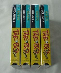4 Taebo Tae bo Live Basic VHS Workout Vol. 1,2,3 & 4 New Sealed Punch Kick Jab