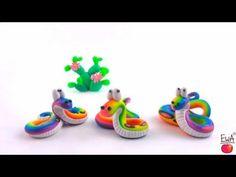 LET'S CLAY! easy RAINBOW SNAKE - TĘCZOWY WĄŻ - polymer clay tutorial - YouTube