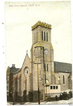 Holy-Cross-Church-Troy-NY--Postcard